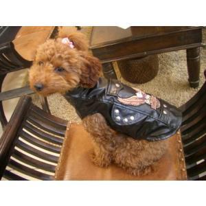 送料無料♪【いぬもん掲載】犬のジャケット【モーターサイクル バイカージャケット】犬用ジャケット/犬服/犬の洋服|wanwan3dogs|02