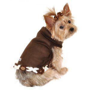 犬のコート【Navajo Sheling suede vest】犬服/犬の洋服|wanwan3dogs