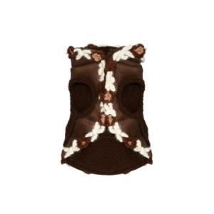 犬のコート【Navajo Sheling suede vest】犬服/犬の洋服|wanwan3dogs|03