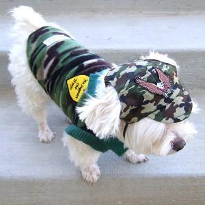 犬のフリースシャツ【ミリタリーハート】迷彩/カモフラ/犬服/犬の洋服|wanwan3dogs
