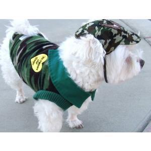 犬のフリースシャツ【ミリタリーハート】迷彩/カモフラ/犬服/犬の洋服|wanwan3dogs|02