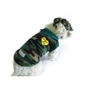 犬のフリースシャツ【ミリタリーハート】迷彩/カモフラ/犬服/犬の洋服|wanwan3dogs|03