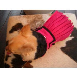 犬のコート【ホットピンク _プリーツ_ドレスコート】犬用コート/ペットのコート/犬服/犬の洋服|wanwan3dogs|02