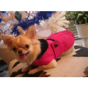 犬のコート【ホットピンク _プリーツ_ドレスコート】犬用コート/ペットのコート/犬服/犬の洋服|wanwan3dogs|03
