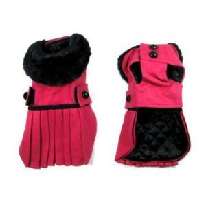 犬のコート【ホットピンク _プリーツ_ドレスコート】犬用コート/ペットのコート/犬服/犬の洋服|wanwan3dogs|04