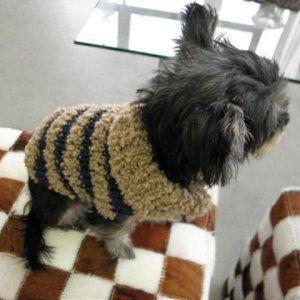 犬のセーター【ナチュ★かわネックセーター_ネイビー】手編みセーター/犬のニット/ペットセーター/犬服/犬の洋服|wanwan3dogs