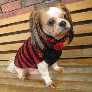 犬のセーター【ブリティッシュ_セーター】手編みセーター/犬のニット/ペットセーター/犬服/犬の洋服|wanwan3dogs