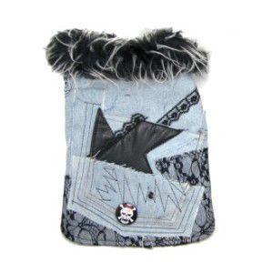 犬のジャケット【Denim & Lace】犬用ジャケット/デニムジャケット/ロックバッジ付き/犬服/犬の洋服|wanwan3dogs