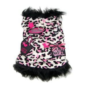 犬のジャケット【Let's Shop Baby Girl】犬用ジャケット/ワッペン/ファージャケット/犬服/犬の洋服|wanwan3dogs
