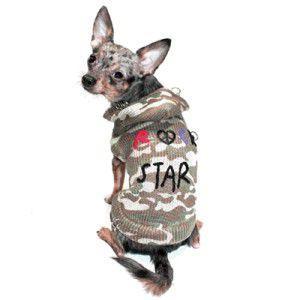 犬のセーター【Camo Rock Star】ロックグッズ/犬のニット/迷彩柄/ペットセーター/犬服/犬の洋服|wanwan3dogs