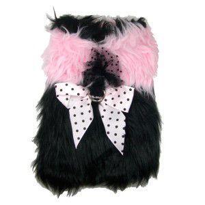 犬のジャケット【Fashionista Cuddle】犬用ジャケット/ファージャケット/リボン/レース/犬服/犬の洋服|wanwan3dogs