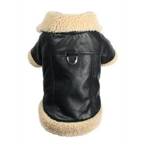 犬のコート【Classic Sherling Leatherette】犬服/ペットコート|wanwan3dogs