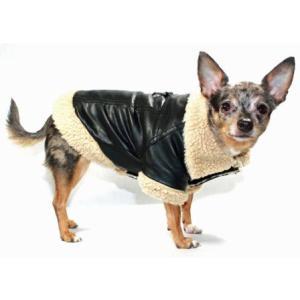 犬のコート【Classic Sherling Leatherette】犬服/ペットコート|wanwan3dogs|02