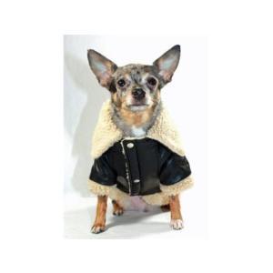 犬のコート【Classic Sherling Leatherette】犬服/ペットコート|wanwan3dogs|03