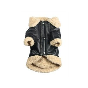犬のコート【Classic Sherling Leatherette】犬服/ペットコート|wanwan3dogs|04