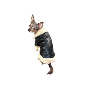 犬のコート【Classic Sherling Leatherette】犬服/ペットコート|wanwan3dogs|05