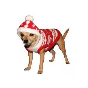 犬のセーター【Super Soft Red Snowflake】クリスマス/雪柄/犬のニット/ペットセーター/犬服/ヒップドギー|wanwan3dogs|02