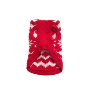 犬のセーター【Super Soft Red Snowflake】クリスマス/雪柄/犬のニット/ペットセーター/犬服/ヒップドギー|wanwan3dogs|04