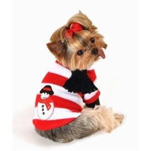 犬のセーター【スノーマン】 wanwan3dogs