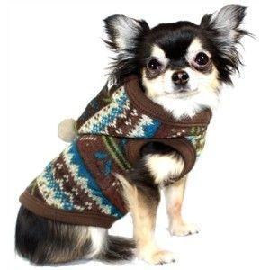 犬のセーター【Fair Isle】パーカー wanwan3dogs