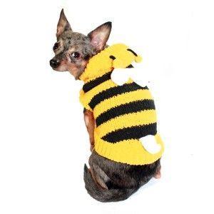 犬のセーター【Chenille Bumble Bee】ハチさん|wanwan3dogs