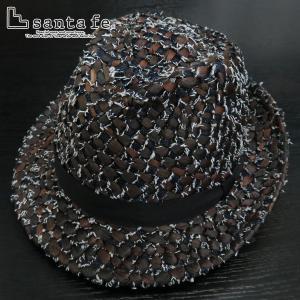サンタフェ デニムイントレストローハット 茶 05824-049 santaFe 帽子|wanwan