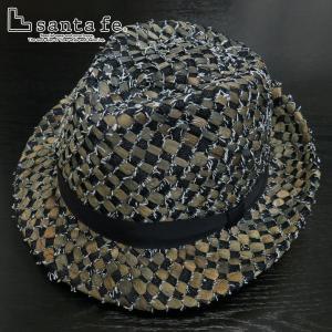 サンタフェ デニムイントレストローハット ベージュ 05824-052 santaFe 帽子|wanwan