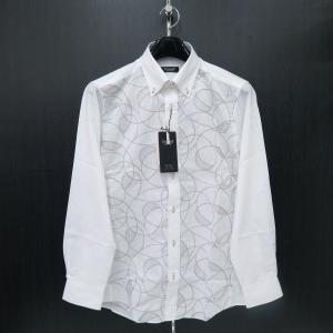 バラシ 長袖ボタンダウンシャツ 白 48/50サイズ 1250-1009-11 barassi|wanwan