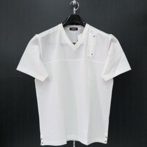 バラシ Vネック半袖Tシャツ 白 50サイズ 1250-2553-10 barassi|wanwan