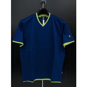 ラウラ フェリーチェ Vネック半袖Tシャツ 青 126-5501-B5 LAURA  Felice|wanwan