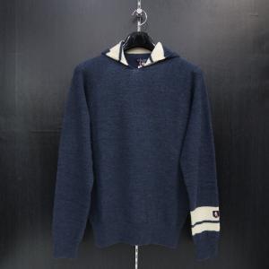 ラウラ フェリーチェ ホールガーメントパーカーセーター 紺 129-7004-25 LAURA  Felice|wanwan