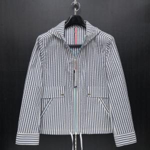 ラウラ フェリーチェ パーカーブルゾン 紺白ストライプ 50(LLサイズ) 132-1008-12 LAURA  Felice|wanwan