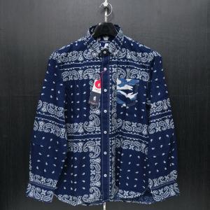 ラウラ フェリーチェ 長袖ボタンダウンシャツ ペイズリー 50(LLサイズ) 132-3103-27 LAURA  Felice|wanwan