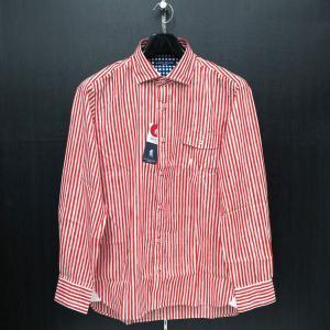 ラウラ フェリーチェ 長袖シャツ 赤/白 50サイズ 132-3115-44 LAURA  Felice|wanwan