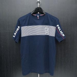 ラウラ フェリーチェ 半袖Tシャツ 紺 50サイズ 132-5506-26 LAURA  Felice|wanwan