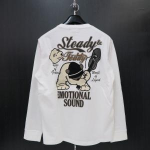 ステディーテディー 長袖Tシャツ 白 XL 171000-10 Steady&Teddy|wanwan