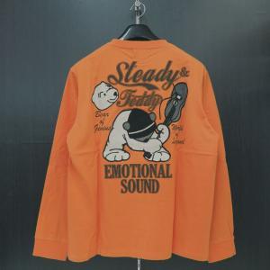 ステディーテディー 長袖Tシャツ オレンジ XL 171000-130 Steady&Teddy|wanwan
