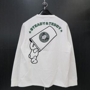 ステディーテディー 長袖Tシャツ 白 XL 171001-10 Steady&Teddy|wanwan