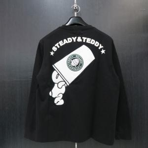 ステディーテディー 長袖Tシャツ 黒 XL 171001-20 Steady&Teddy|wanwan
