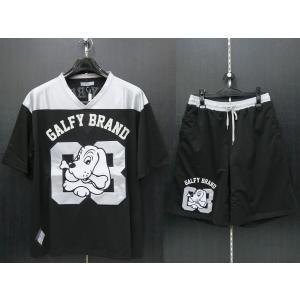 クラッチガルフィー 半袖上下セット 黒/グレー XLサイズ 182008-20 CRUTCHGALFY|wanwan