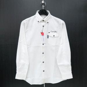 カプリ 長袖ボタンダウンシャツ 白 2131-1051-10 CAPRI|wanwan
