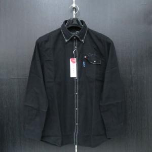 カプリ 長袖ボタンダウンシャツ 黒 2131-1051-20-52 CAPRI|wanwan