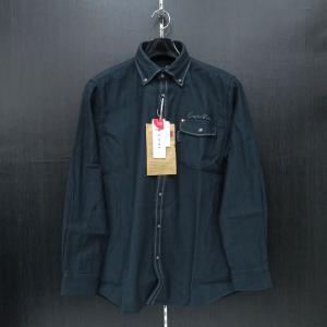 カプリ 長袖ボタンダウンシャツ 紺 2131-1051-53-52 CAPRI|wanwan
