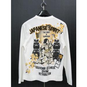 抜刀娘 長袖Tシャツ 白  213258-10|wanwan
