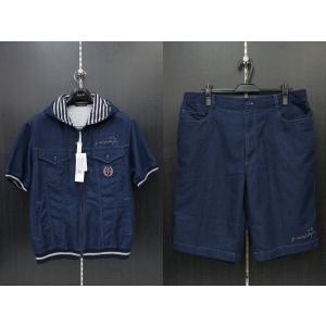 カステルバジャック 半袖ジップアップパーカー上下セット 紺 50サイズ 21371-118-59 castelbajac|wanwan