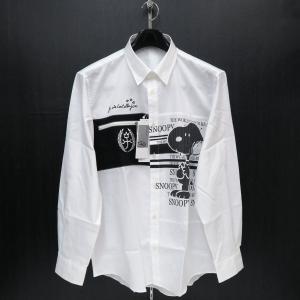 カステルバジャック スヌーピー長袖ボタンダウンシャツ 白 50サイズ 21460-104-01 castelbajac Snoopy|wanwan