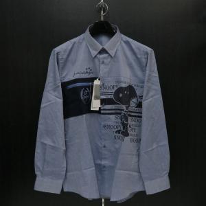 カステルバジャック スヌーピー長袖ボタンダウンシャツ インディゴ 50サイズ 21460-104-57 castelbajac Snoopy|wanwan