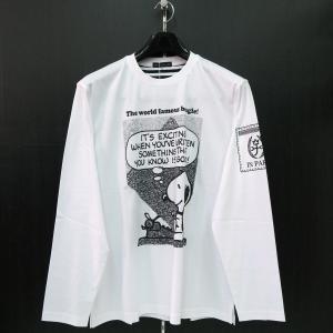 カステルバジャック スヌーピー長袖Tシャツ 白 50サイズ 21470-105-01 castelbajac Snoopy|wanwan