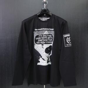 カステルバジャック スヌーピー長袖Tシャツ 黒 50サイズ 21470-105-99 castelbajac Snoopy|wanwan