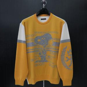 カステルバジャック スヌーピー丸首セーター イエロー 50サイズ 21480-103-35 castelbajac Snoopy ニット|wanwan